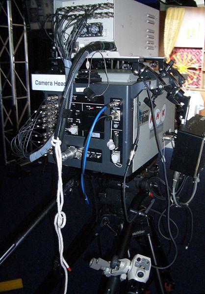 A protype NHK UHDTV camera